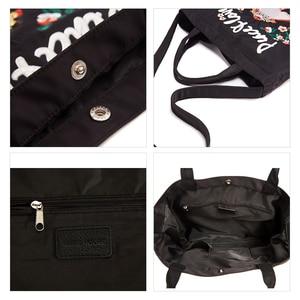 Image 5 - EMINI Bolsa de compra plegable de gran capacidad para mujer, bolso de mano bordado, cruzado, espacioso