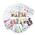 100 Folhas Mista Flor Projeto Dos Desenhos Animados Prego Decalques de Transferência de Água Da Arte do Prego Adesivo Polonês Wraps DIY Beauty Acessórios STZ134-233