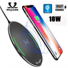 Qi Wireless Charger For Samsung Galaxy S9 S8 Plus 10W Fast Charging Dock Charger Cradle For iphone 8/8 Plus X XS Plus phone