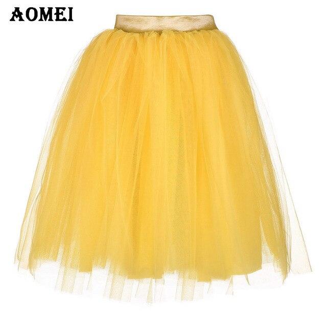 Capas Alta Amarillo Lateral Tutu Mujeres Cintura Faldas Invisible Con Primavera 6 Color Malla Cremallera Tulle 4dqwWO
