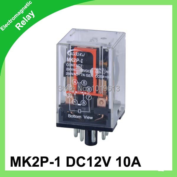 MK2P 1S Electrical Relay dpdt relay 12vdc power relayin Relays