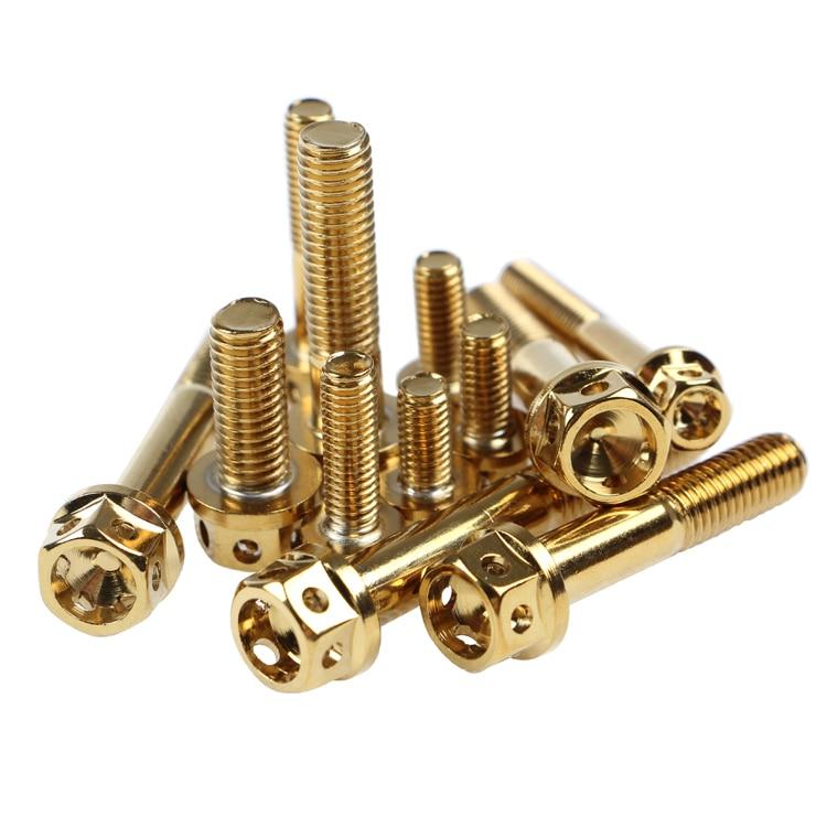 6 unids / lote 304 tornillos de motocicleta de acero inoxidable M8 * 20/35/40/45/50 / 55mm tornillo M6 * 10/13/20/30 / 45mm tornillos de motocicleta