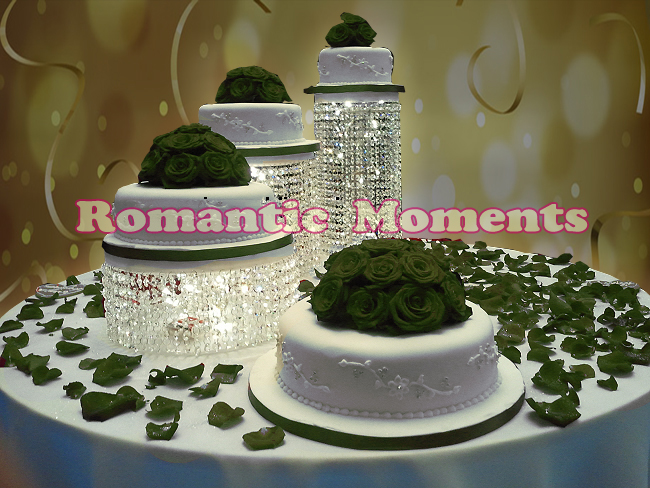 3pcs Lot Wedding Cake Stand Crystal Cake Holder Round Crystal Cake