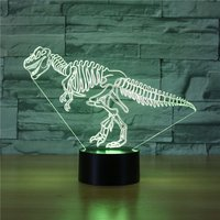 3D LED Lamp Night Ligh Sunglasses Dog Standing Cat Dinosaur Airplane Spider iron Multicolor RGB Bulb Christmas Kids Gift Toys