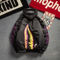 NEW MA 1 bomber jacket men women letter Hip Hop shark pilot motorcycle jacket male autumn 2019