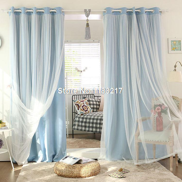 2017 New Korean Models Matt Full Blackout Curtains For Living Room White Tulle Sheer Free Shipping Wc0002 In From Home Garden