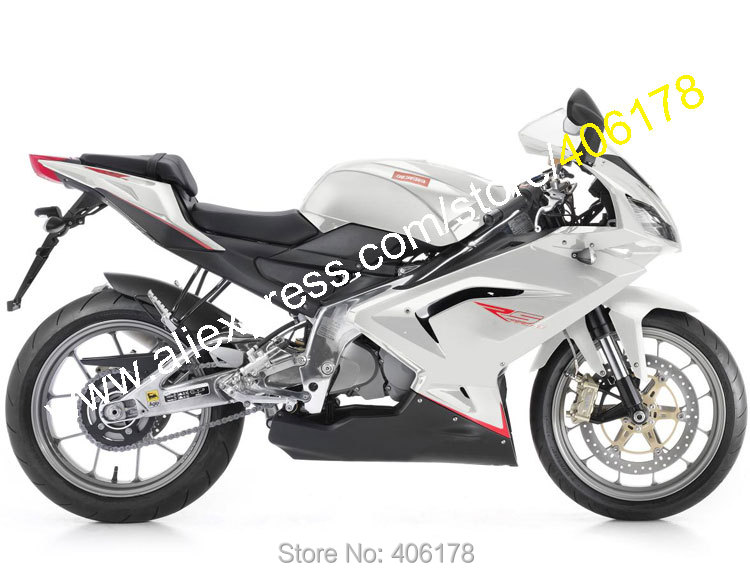 Hot Sales,For Aprilia RS125 2006 2007 2008 2009 2010 2011 RS 125 RS-125 Silver Black ABS Material Fairings (Injection molding)