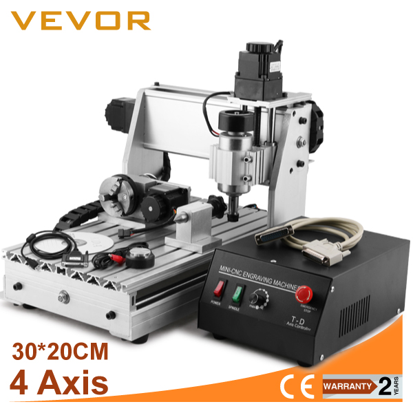 NEW USB CNC ROUTER ENGRAVER ENGRAVING CUTTER 4AXIS 3020T WOODWORKING MILLING