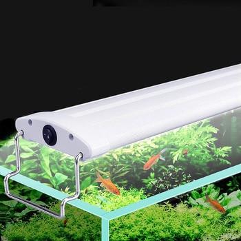 В 21 светодио дный-45 см 240-220 В аквариум светодиодное освещение аквариум свет лампы с выдвижными кронштейнами белый светодио дный синий свето...