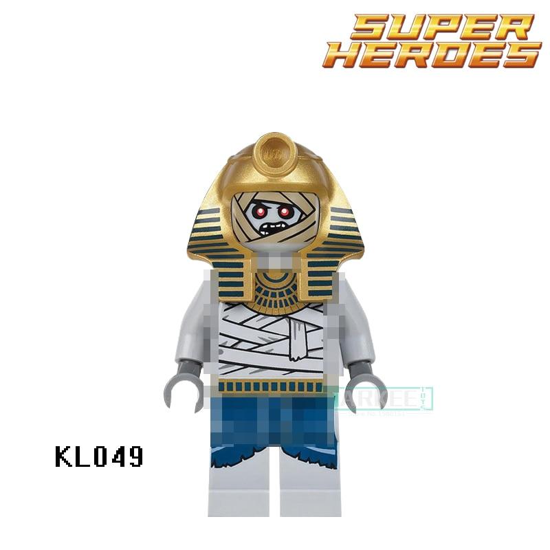 Building Blocks KL049 Mummy Warrior Golden Face Egyptian Figures Super Heroes Set Model Action Bricks Kids DIY Toys Hobbies Gift
