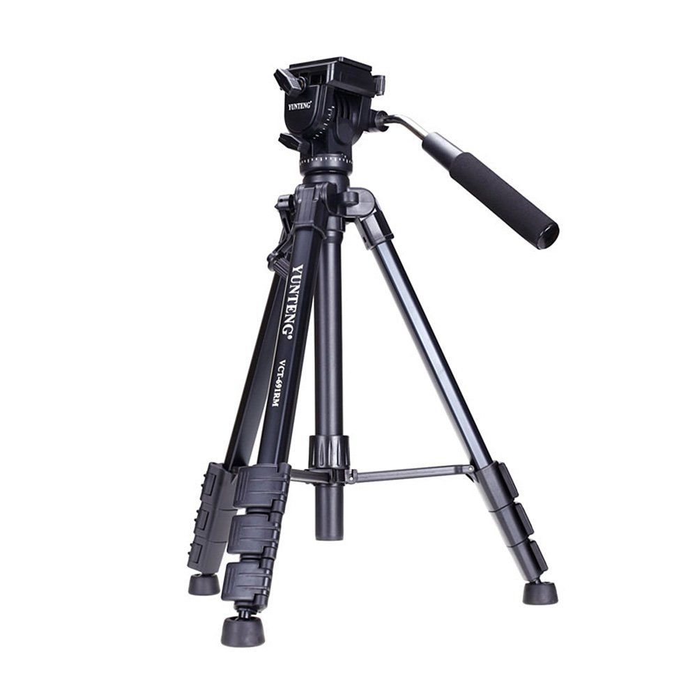 YUNTENG VCT-691 Professional Aluminum Tripod With Pan Head & Bag For DSLR Camera  691