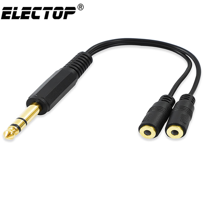 5x Dual 2-RCA Female Jacks to 3.5mm Mono Male Y Splitter Audio Cable Adapter