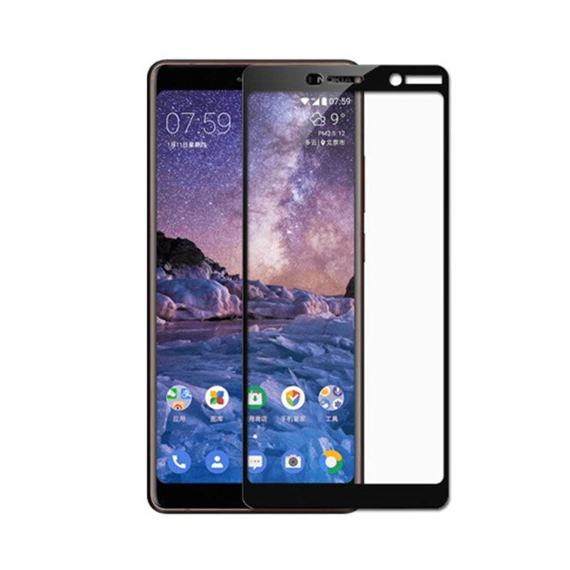 2Pcs Tempered Glass For Nokia 7 plus Full Cover Screen Protector on smartphone 7plus Explosion proof Toughened Protective Film in Phone Screen Protectors from Cellphones Telecommunications