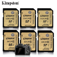 Kingston Sd Card Memory Card 16gb 32gb 64gb 128gb 256gb 512gb SDHC SDXC Flash Card Class