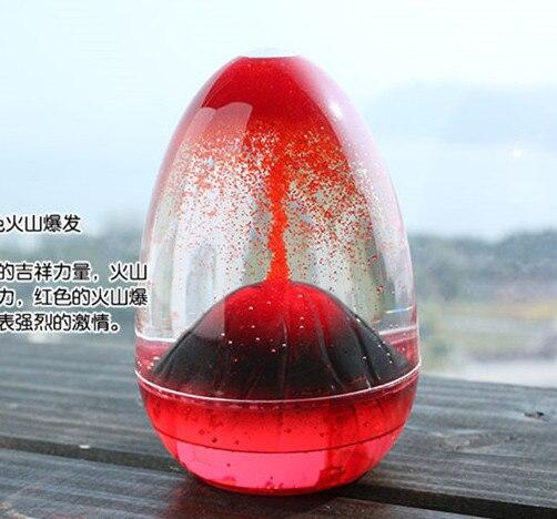 Движение жидкие часы Творческий вулкан масло Песок стекло домашний декор ремесло стекло украшения песок таймер рождественские подарки на день Святого Валентина - Цвет: Красный