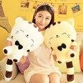 45 CM Grande Encantadora Cara Sonriente Gato de Peluche Brinquedos Juguetes Mejores Regalos para Los Niños de Alta Calidad