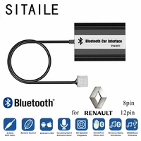 SITAILE Car MP3 Music Players Bluetooth A2DP Adapter for Renault 8pin 12pin Clio Avantime Master Modus Scenic Traffic Interface