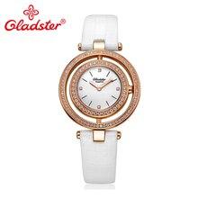 Gladster роскошные японские MiyotaGL20 женские часы модные водонепроницаемые сапфировые Хрустальные кварцевые женские часы