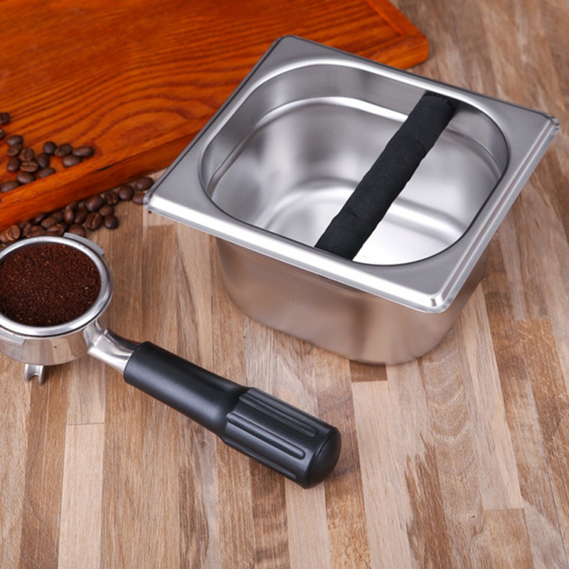 Accessories for Household Stainless Steel Italian Style Coffee Machine Waste Slag Bucket Coffeeware