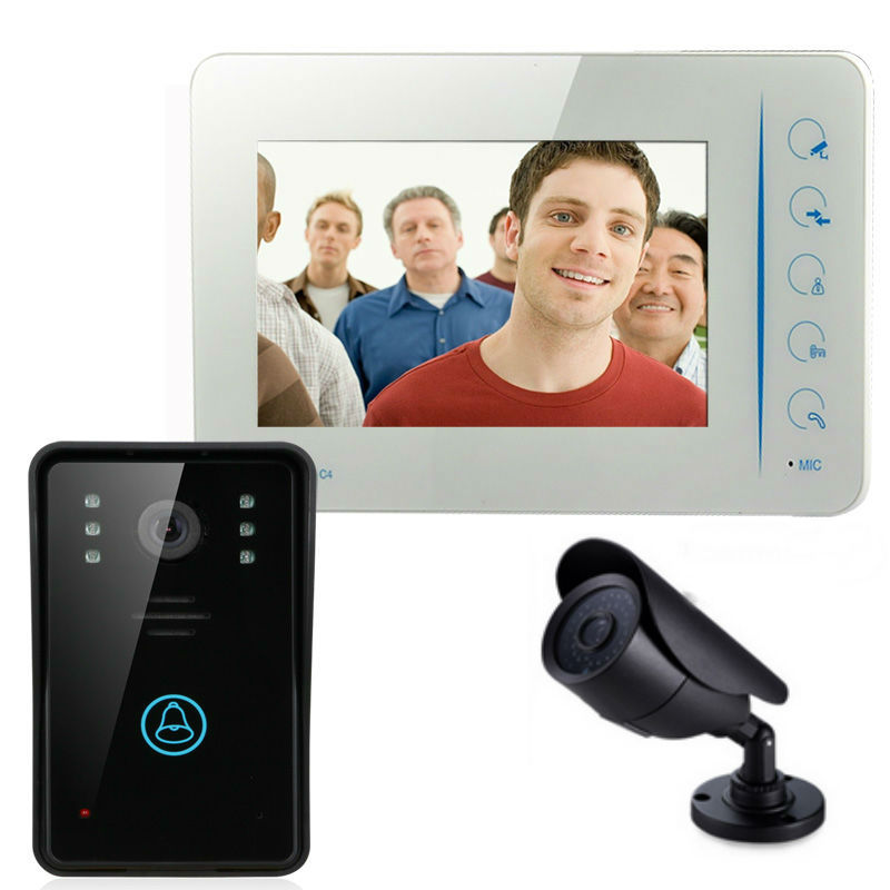 YobangSecurity 7Video DoorPhone Video Intercom Home Doorbell System IR Night Vision intercom With CCTV Outdoor Bullet Camera 7 inch video doorbell tft lcd hd screen wired video doorphone for villa one monitor with one metal outdoor unit night vision