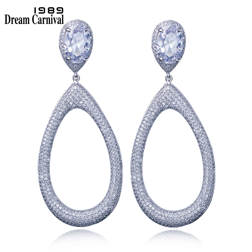 DreamCarnival 1989 Excellent CZ Luxury Earring High end fashion AAA Zircon Big Water drop Party Dangle Earring for women SE11724DreamCarnival 1989 Excellent CZ Luxury Earring High end fashion AAA Zircon Big Water drop Party Dangle Earring for women SE11724