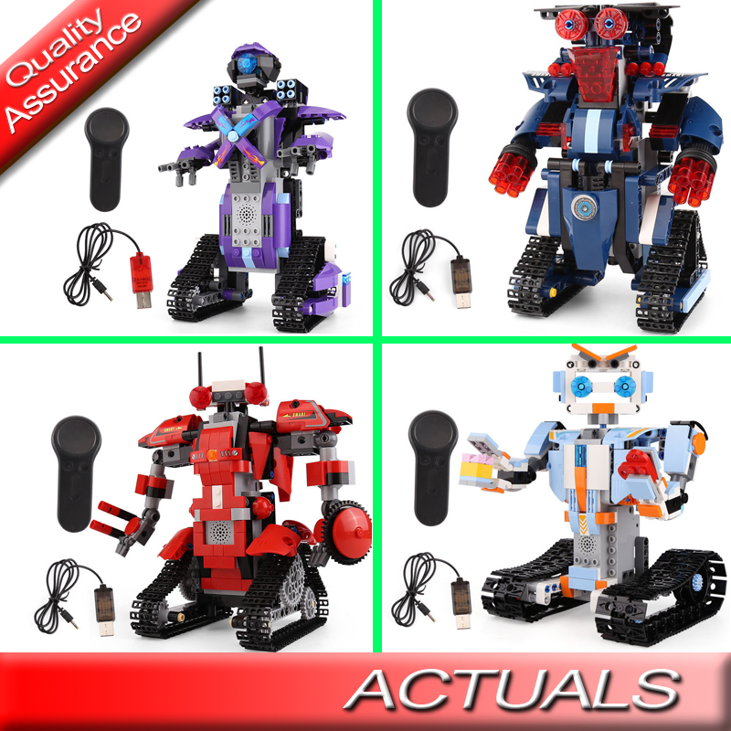 Yeshin 13001 13002 13003 13004 The Robert Remote Control Robot Model Building Blocks Compatible with Lego Christmas Bricks Toys applicatori di etichette manuali
