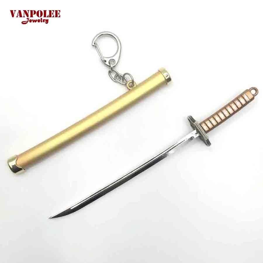 Anime One Piece Sauron Roronoa Zoro Sword Weapon Keychains Chaveiro Portachiavi Sleutelhanger Llaveros For Men Key