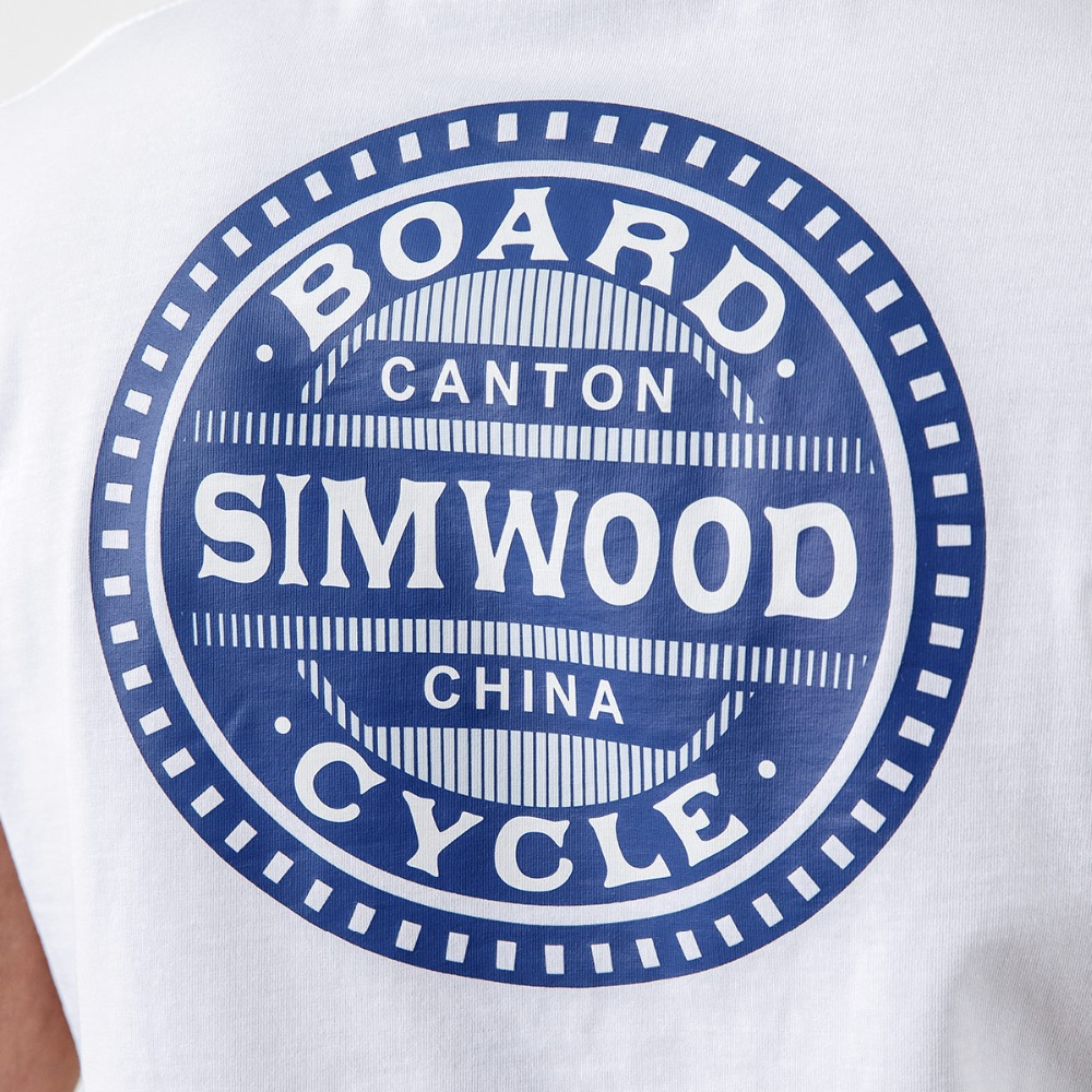 SIMWOOD Casual T-Shirts Men Letter Printed Fashion Tops Male Slim Fit Plus Size Brand Clothing 2019 Summer Camisetas 190074