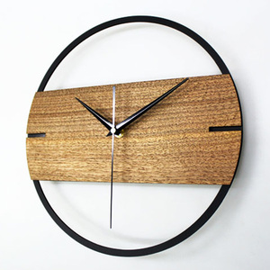 3D Silent Vintage Wall Clock Simple Modern Design Wooden Clocks for Bedroom Stickers Wood Wall Watch Home Decor 12 inch(China)