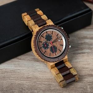 Image 2 - Relogio masculino BOBO VOGEL Uhr Männer Top Luxus Marke Holz Uhren Chronograph Quarz Uhren männer Geschenke Drop Verschiffen