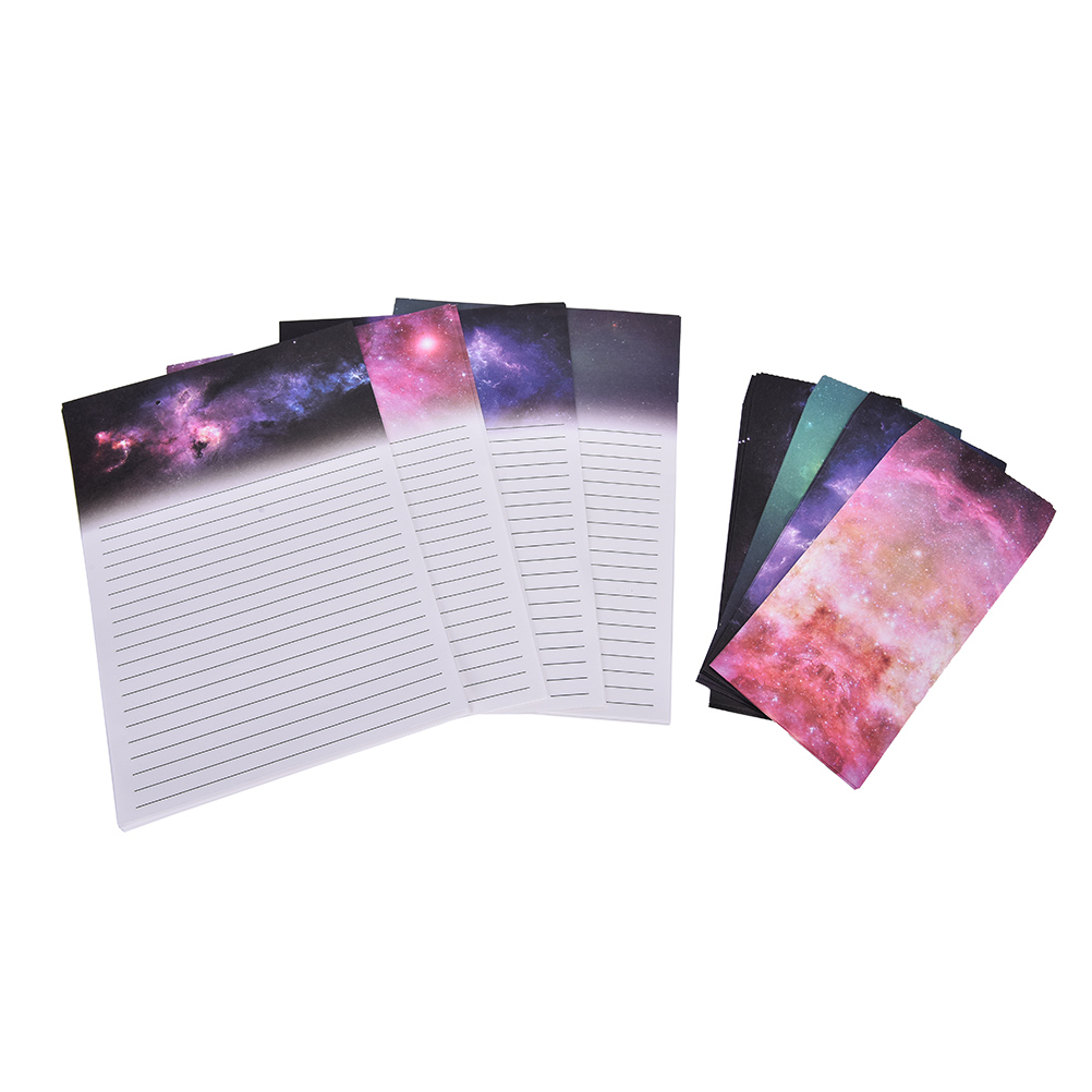 Peerless Starry Sky Print Paper Card 6 Sheet Letter Paper+3 Pcs Envelopes Products Are Sold Without Limitations Mail & Shipping Supplies Office & School Supplies