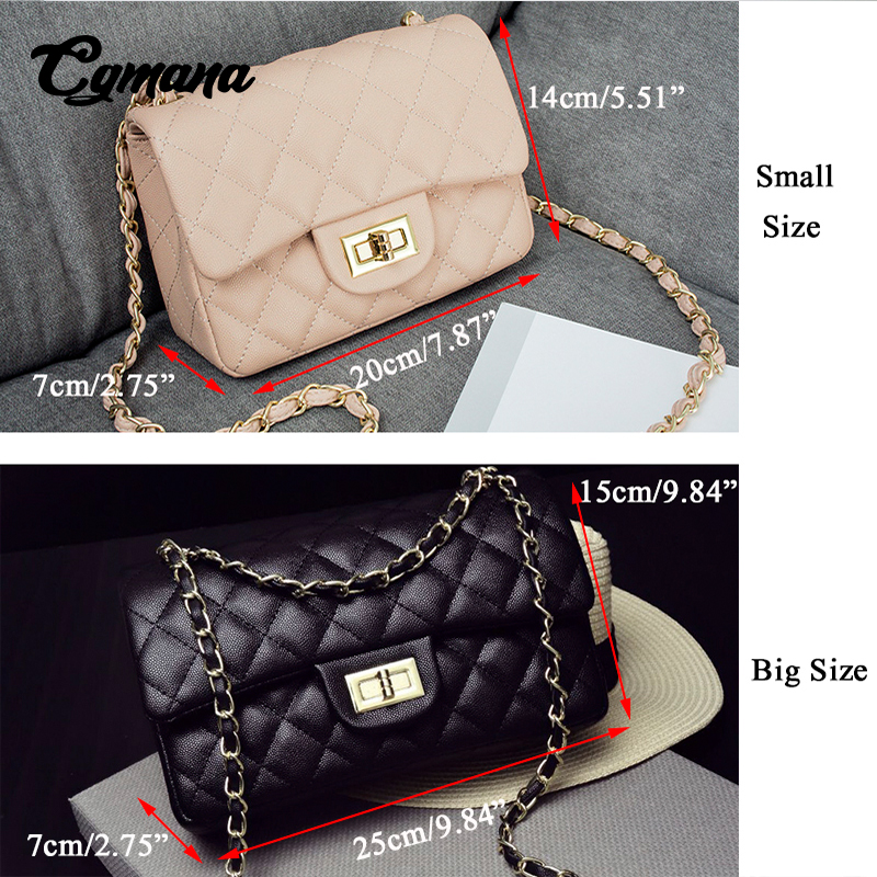 788a7eaa59b42 CGmana Classic Leather Bags Women Designer Handbags 2018 Girl Shoulder Bags  Lady Sac A Main Femme Handbags Women Famous Brands H-in Shoulder Bags from  ...