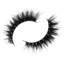Free shipping 3d luxury 100% real mink strip lashes lilly lashes brittnay bear natural fluffy soft mink lashes