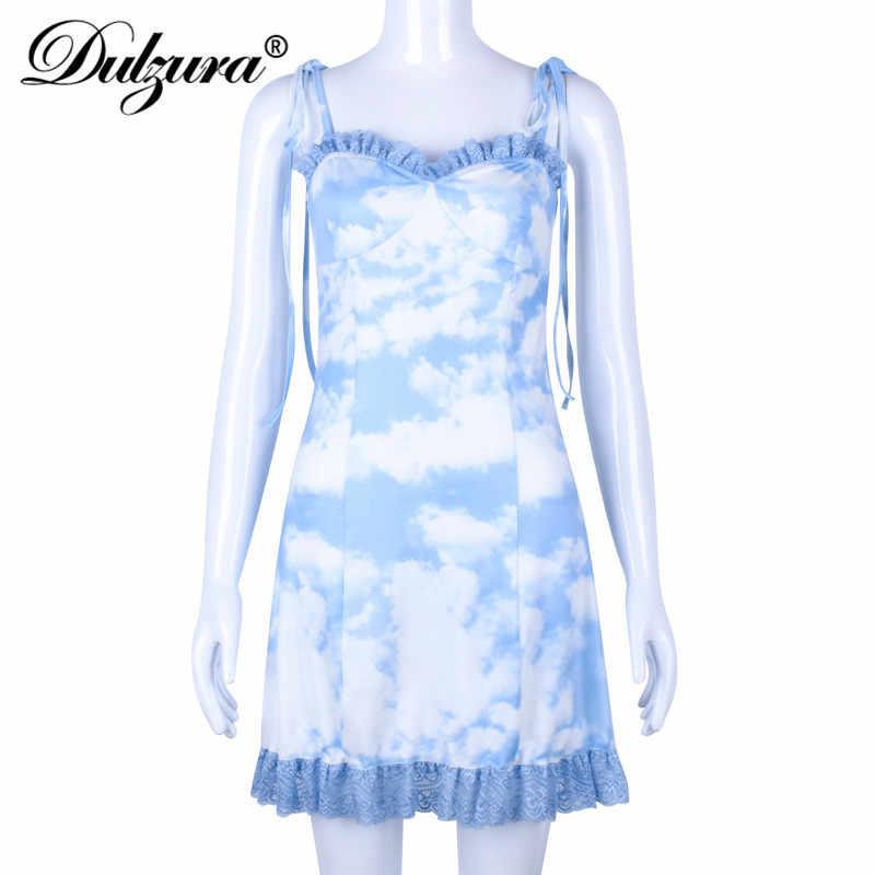Dulzura 2019 летнее женское платье кружевное Сетчатое сексуальное Бандажное деревянное ухо элегантное праздничное платье одежда vestidos Сарафан