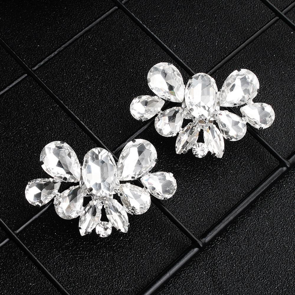 1pcs Shoes Flower Crystal Diamond Shoe Clips Fashion-Decoration Buckle Shiny