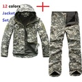 Tactical Gear TAD Soft Shell Conjunto Army Men Sport Ropa Impermeable Caza Camuflaje Chaqueta Al Aire Libre Militar Establece Jacket + Pants