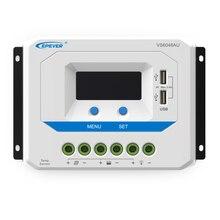 Reguladores de Controlador Lcd com Usb 1 PC X Vs6048au 12 V 24 36 48 Pwm 60a Epsolar Viewstar Sistema Solar Kit de