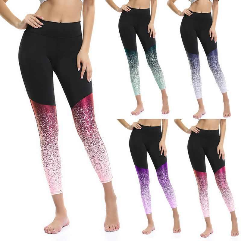 CALOFE Gradient Color Women Fitness กีฬา Bra + ชุดกางเกง Leggings โยคะวิ่งออกกำลังกาย Push Up กางเกง