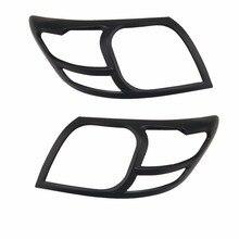 цена на 2pcs ABS HEAD LAMP COVER Car Chrome Strips FOR TOYOTA HILUX VIGO 2012 2013 2014 2015  Accessories Headlamps Cover Trim