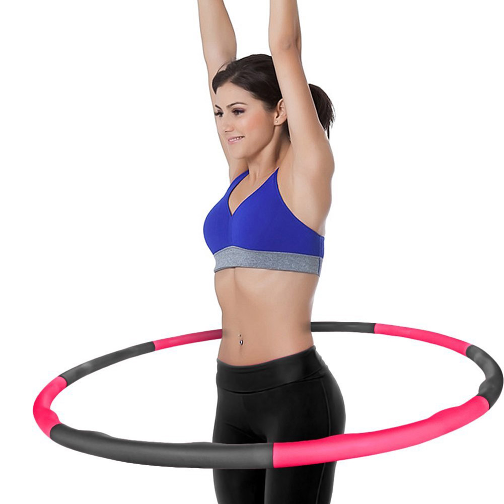 8 Sections Weighted Detachable Hula Hoop Foam Padded Fitness Exercise 100cm Diameter Hoop BB55