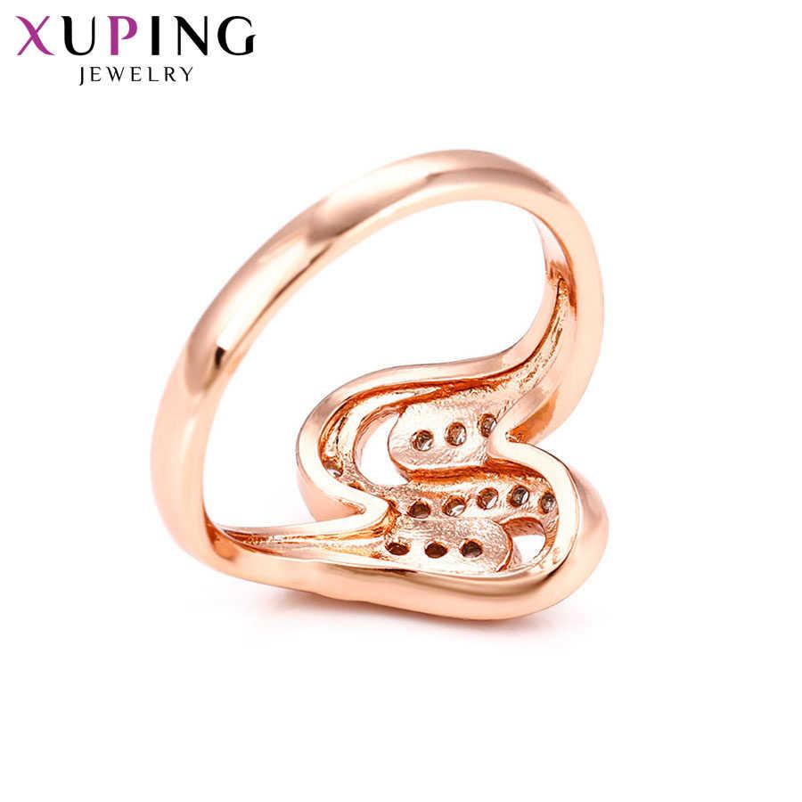 Xuping Mewah Elegan Temperamen Cincin Desain Populer Pesona Gaya untuk Wanita Thanksgiving Perhiasan Natal Hadiah S78, 9-15036