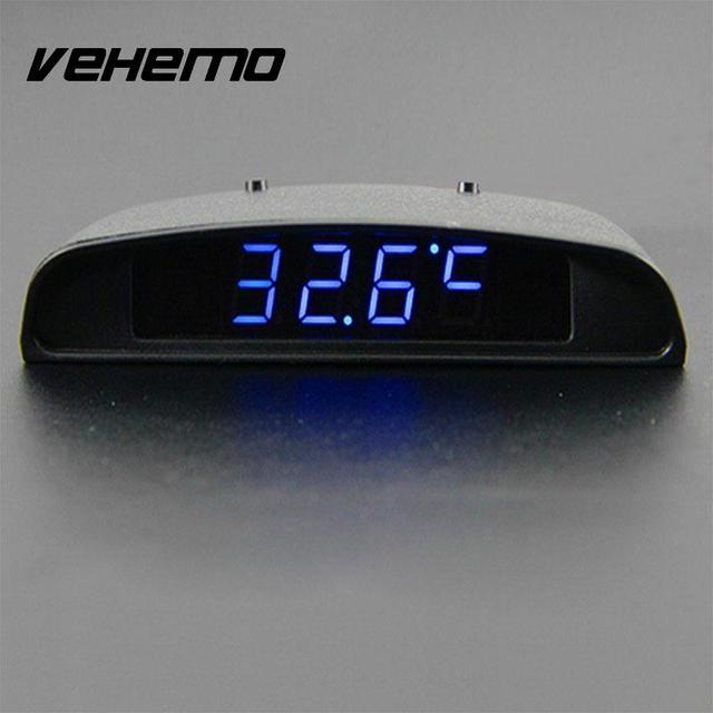 US $8.22 22% OFF|Wysokiej jakości 12 V 3 w 1 samochodów Auto Vehilce zegar cyfrowy czas termometr temperatury napięcie akumulatora Monitor napięcia