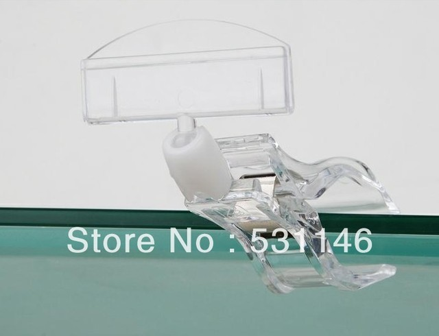 Free Shipping Shelf Clip POP Display Holder High transparency POP Display sign holder