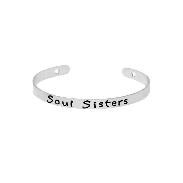 Curved Letters Soul Sisters...