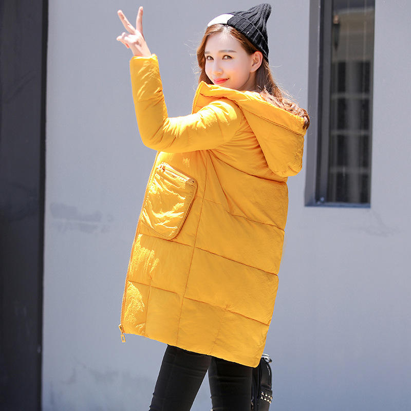 Winter Coat Women Fashion Hooded Parkas Big Pockets Long Jacket Women Chaquetas Mujer Cotton Padded Military Jackets Parka C3585 women winter coat thickening cotton padded clothing hooded parkas casual warm jacket women large size coat chaquetas mujer c3204