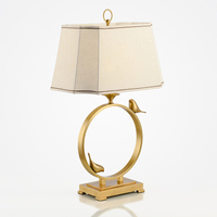 Новый китайский современный Бронзовый Золотой птица дизайнер настольные лампы, декоративные Творческий Каркасные дома Американский Гости