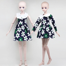 Fashion Dolls Clothes Toys For 60cm 1/3 BJD Sweet Flower Dress Long Short Sleeve Accessories