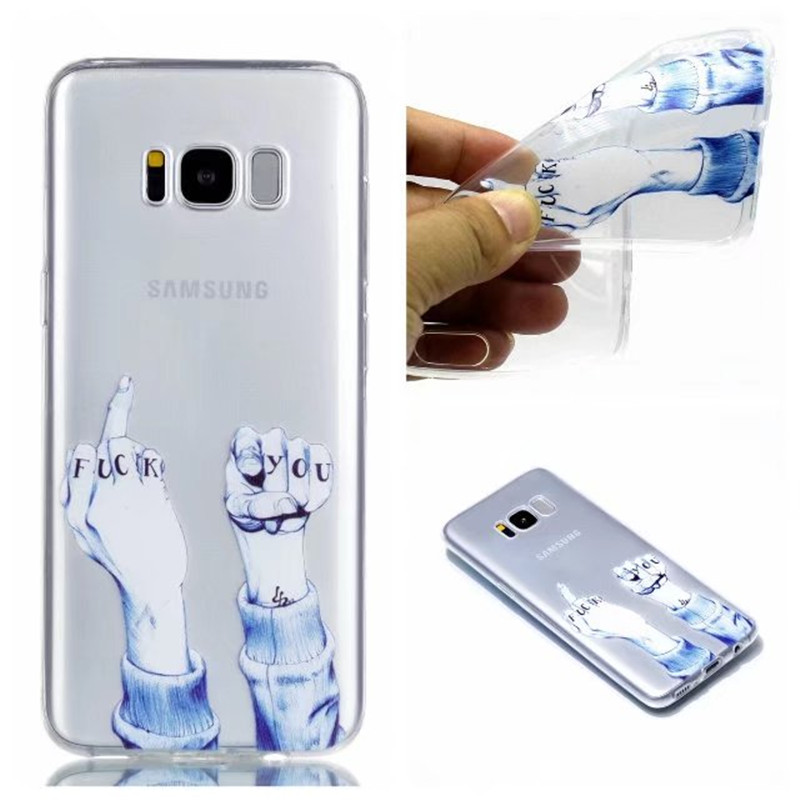TPU Case For Coque Samsung Galaxy S8 Plus Soft Slim Painted Cute Cartoon Back Cover Cases For Capa Samsung S8 Plus