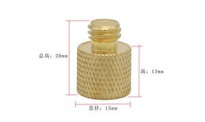 Image 2 - 10pcs/lot 1/4 inch Female to 3/8 inch Male Tripod Thread Reducer Adapter Brass Copper For Camera tripod Diameter of screw 3/8