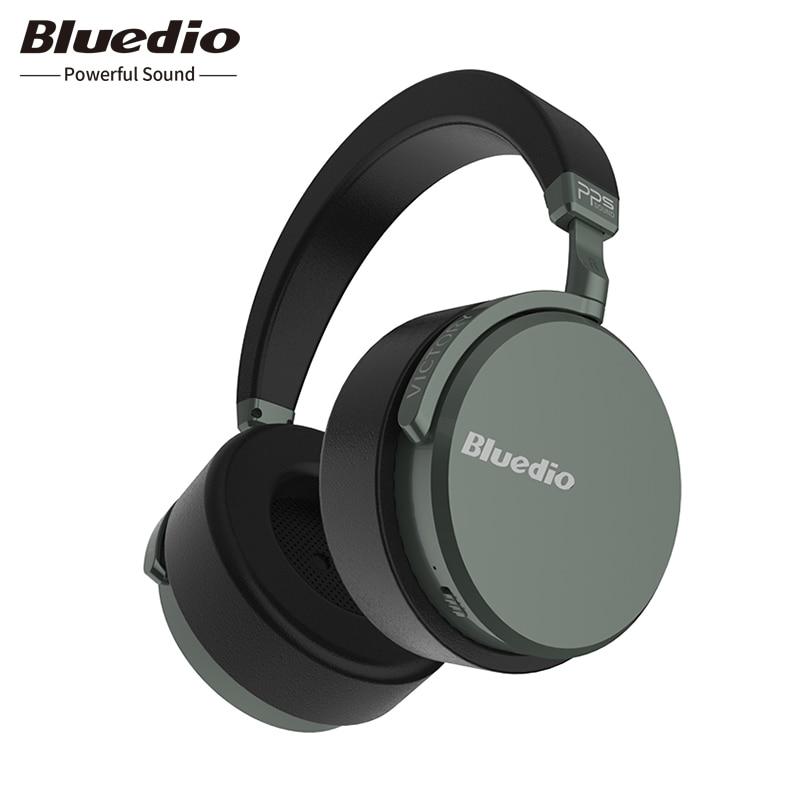 Bluedio V2 auriculares Bluetooth inalámbrico auriculares PPS12 los conductores con micrófono de alta-gama de auriculares para teléfono y música